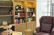 Comfortable seating area in our Reading Room